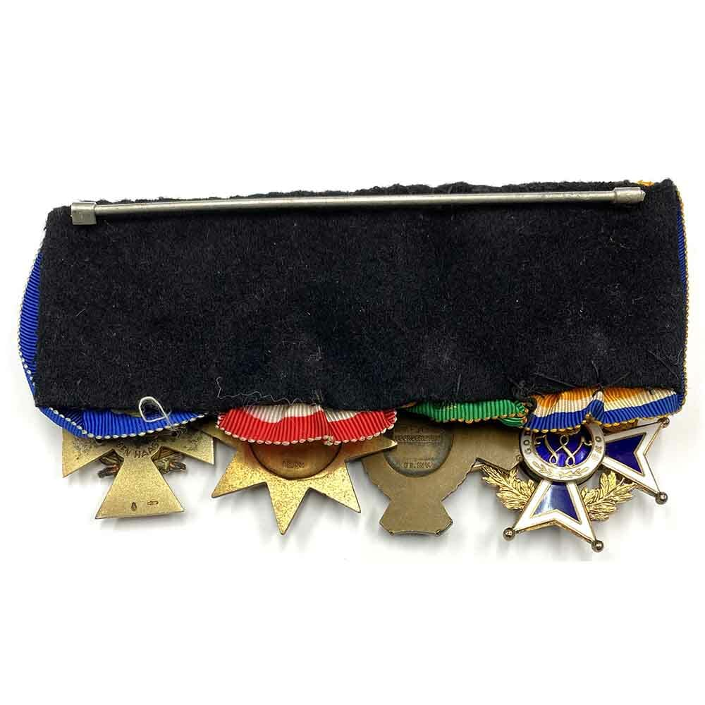 Group of 4, officers court mounted as worn 2