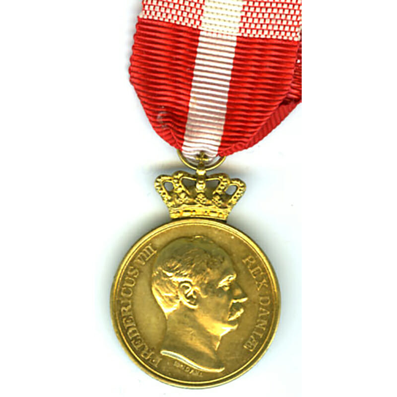 Medal of Recompense Frederick VIII with   crown  1906-1912 1