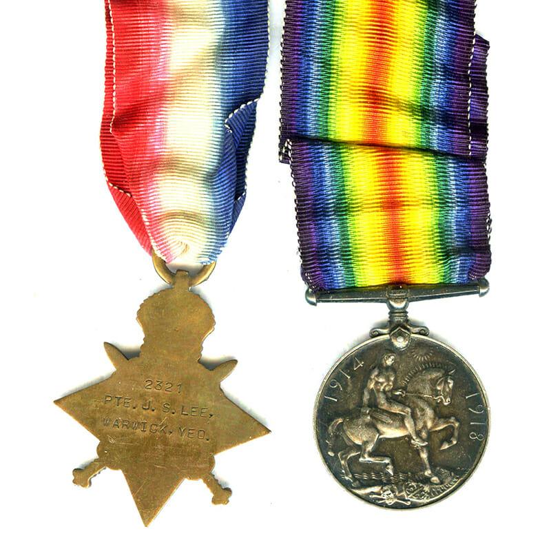1914-15 Star and BWM Warwick Yeomanry 2