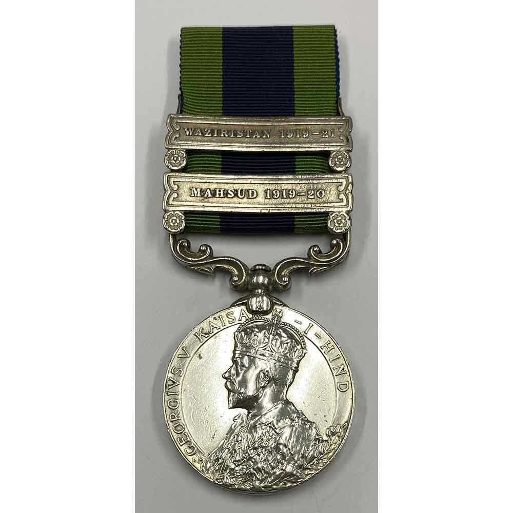 India General Service Medal 1908 2 bars Mahsud Gurkha 1