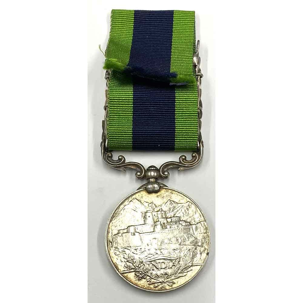India General Service Medal 1908 2nd type 3 bars 2