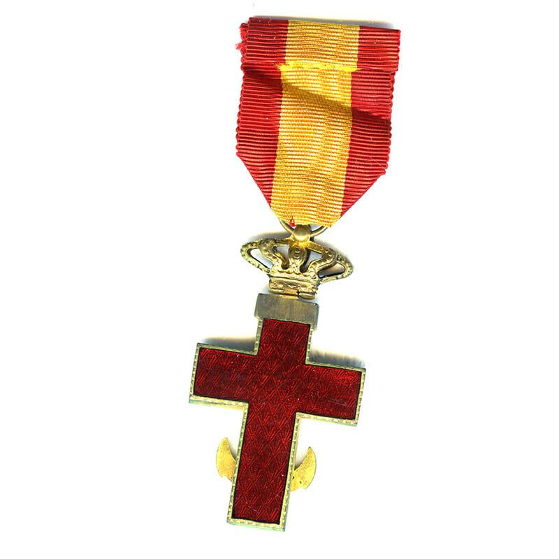 Order of  Naval  Merit Knight Kingdom  Red enamel 2