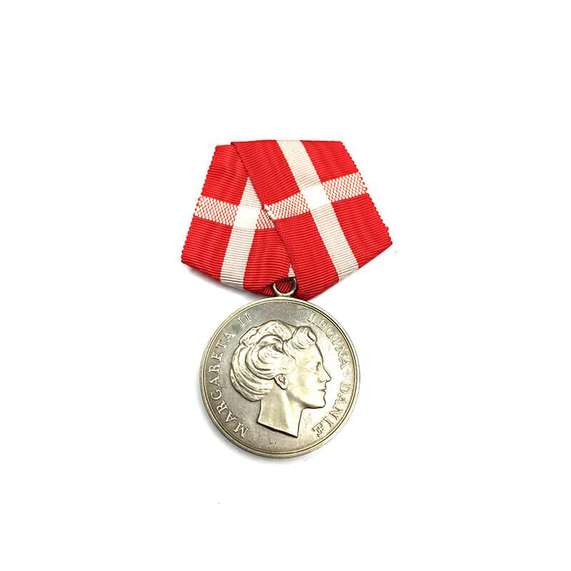 Medal of Merit  Margarethe to Paul Rasmus Rasmussen cased 1