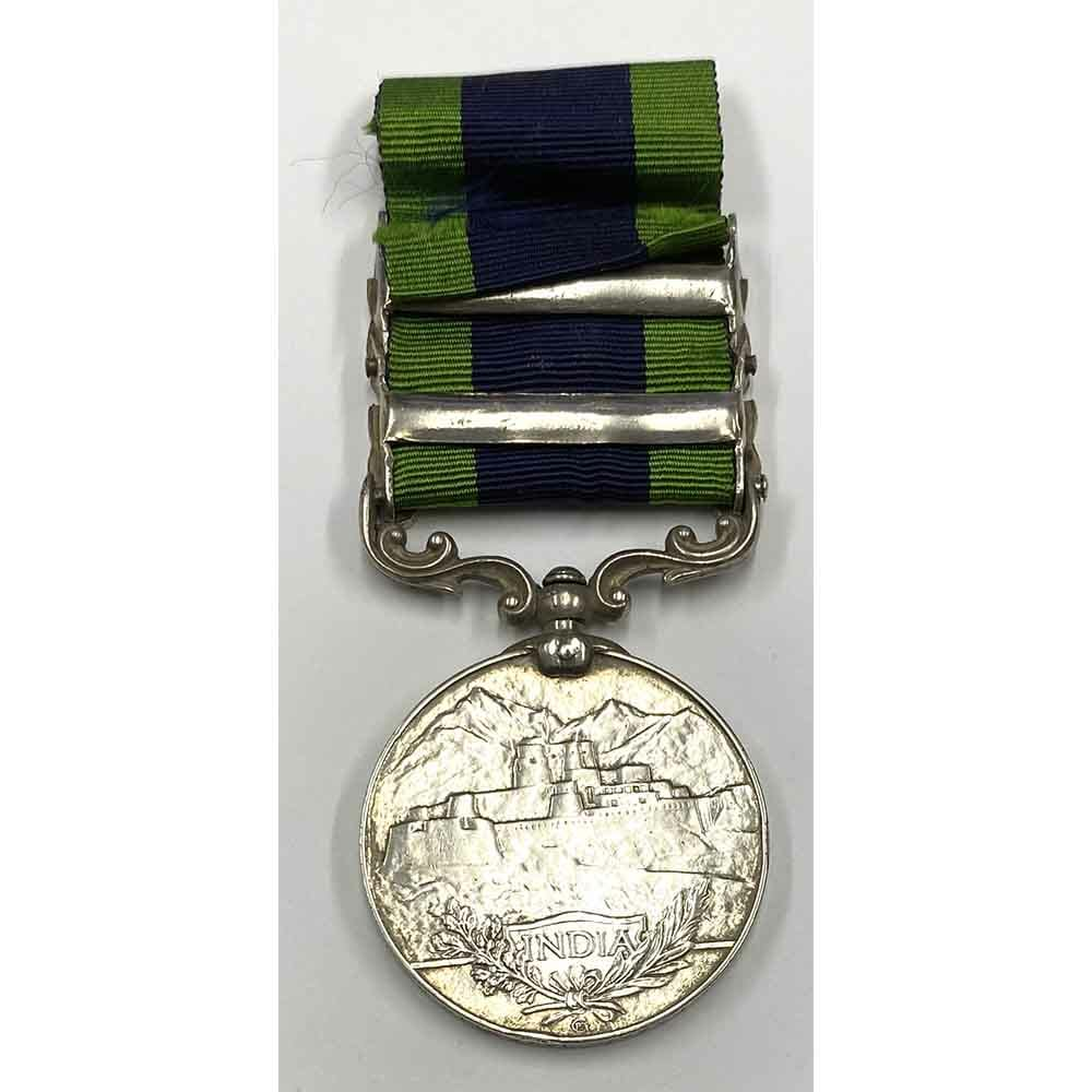 India General Service Medal 1908 2nd type 2 bars 2