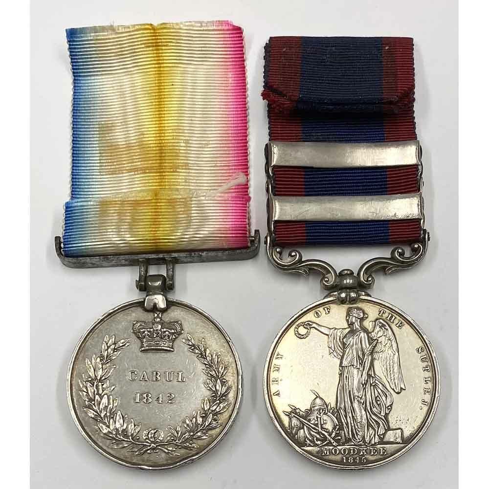 Cabul 1842 Sutlej 2 Bars 3rd Light Dragoons 2