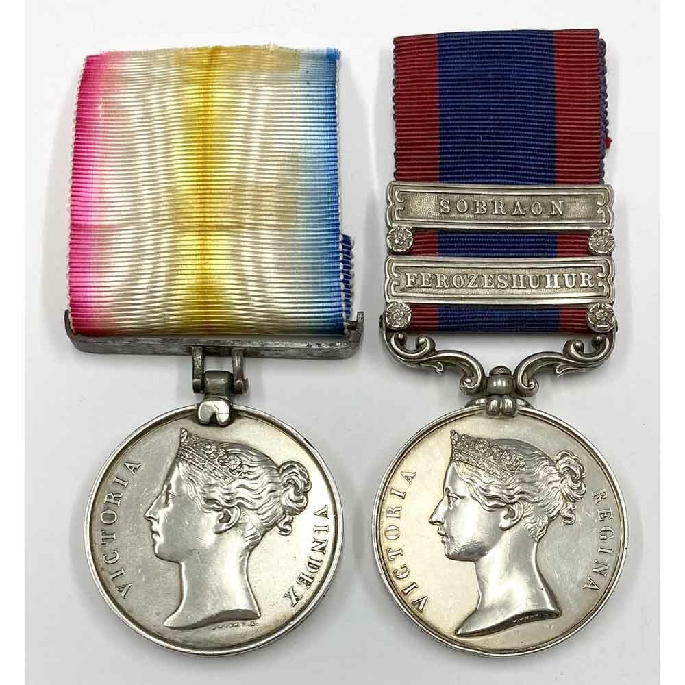 Cabul 1842 Sutlej 2 Bars 3rd Light Dragoons 1