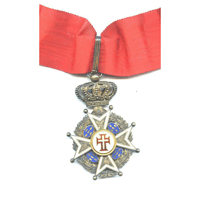 Order of Christ Commander neck badge Military with wreath and crown 1