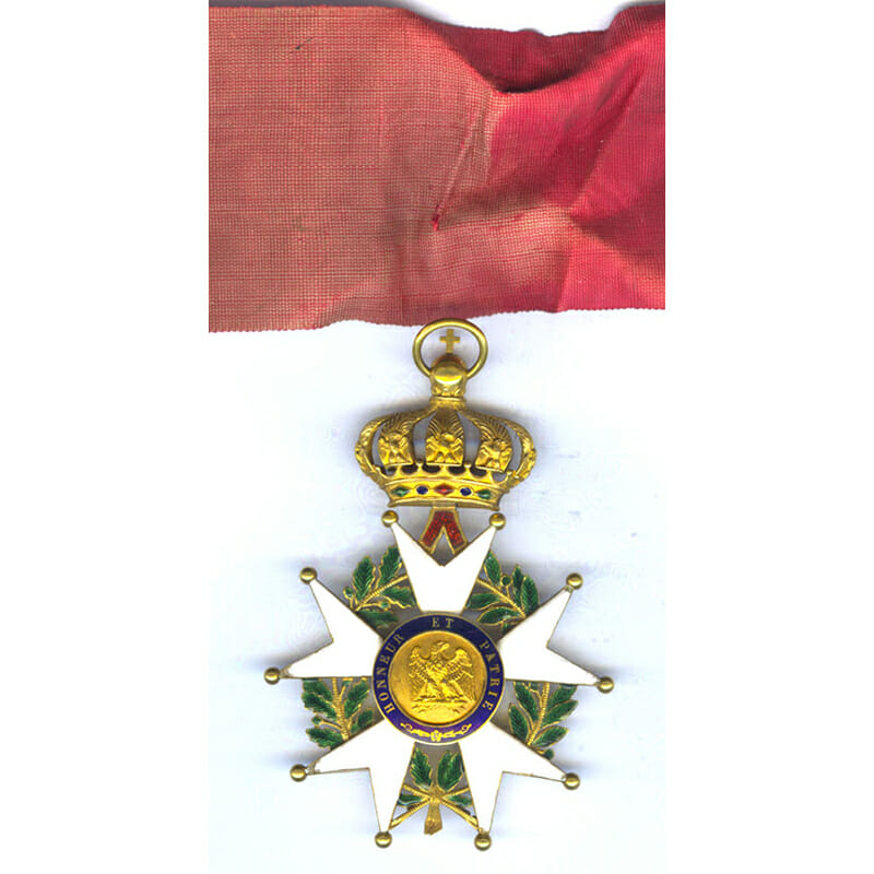 Legion D'Honneur  Commander neck badge  2nd Empire Crimea period 2