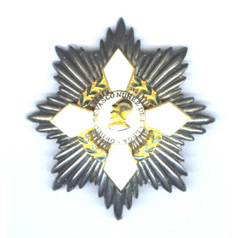 Order of  Vasco Nunez  De Balboa Grand Cross breast star 1