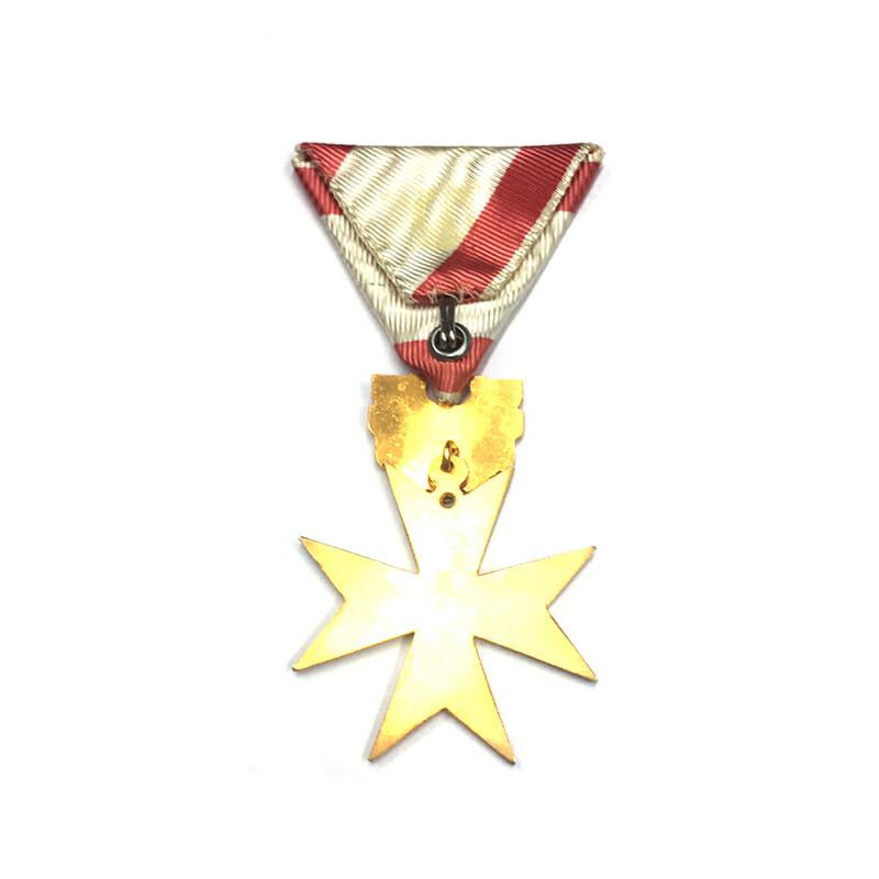 Republic Order of Merit Type II 1952 knights golden cross in fitted... 2