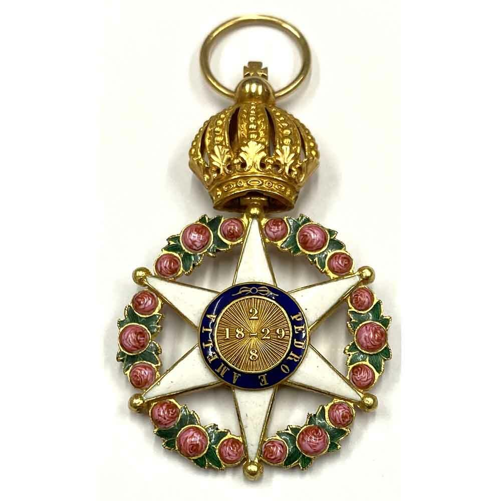Order of the Rose breast badge  gold 19th century, 2