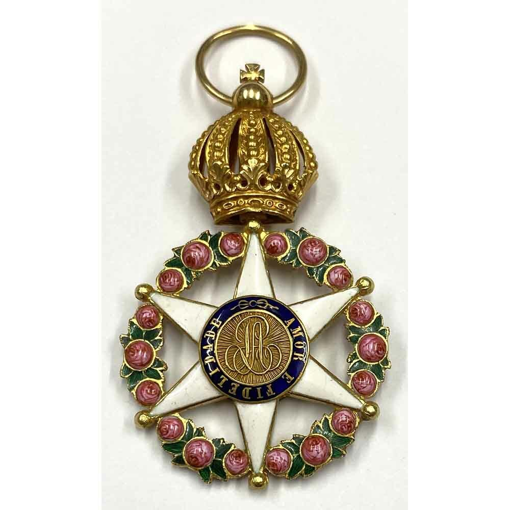 Order of the Rose breast badge  gold 19th century, 1