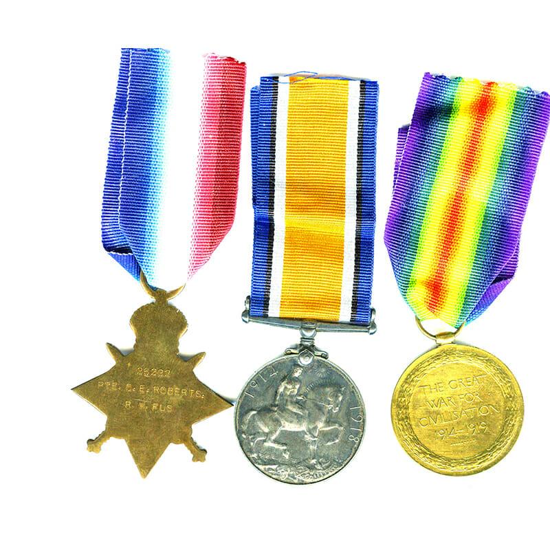 1914-15 Star trio RWF RFC and RAF 2