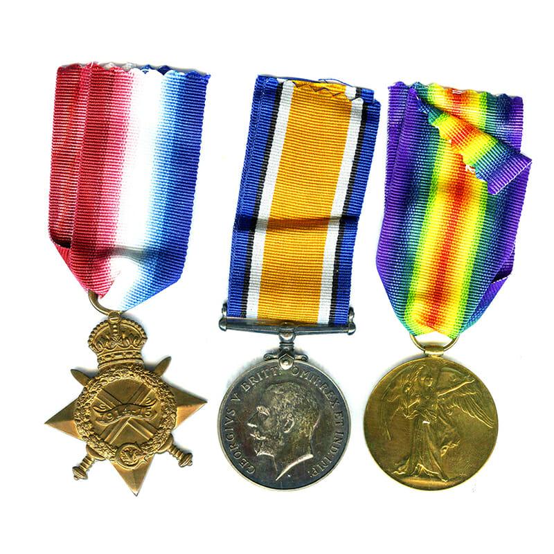 1914-15 Star trio RWF RFC and RAF 1