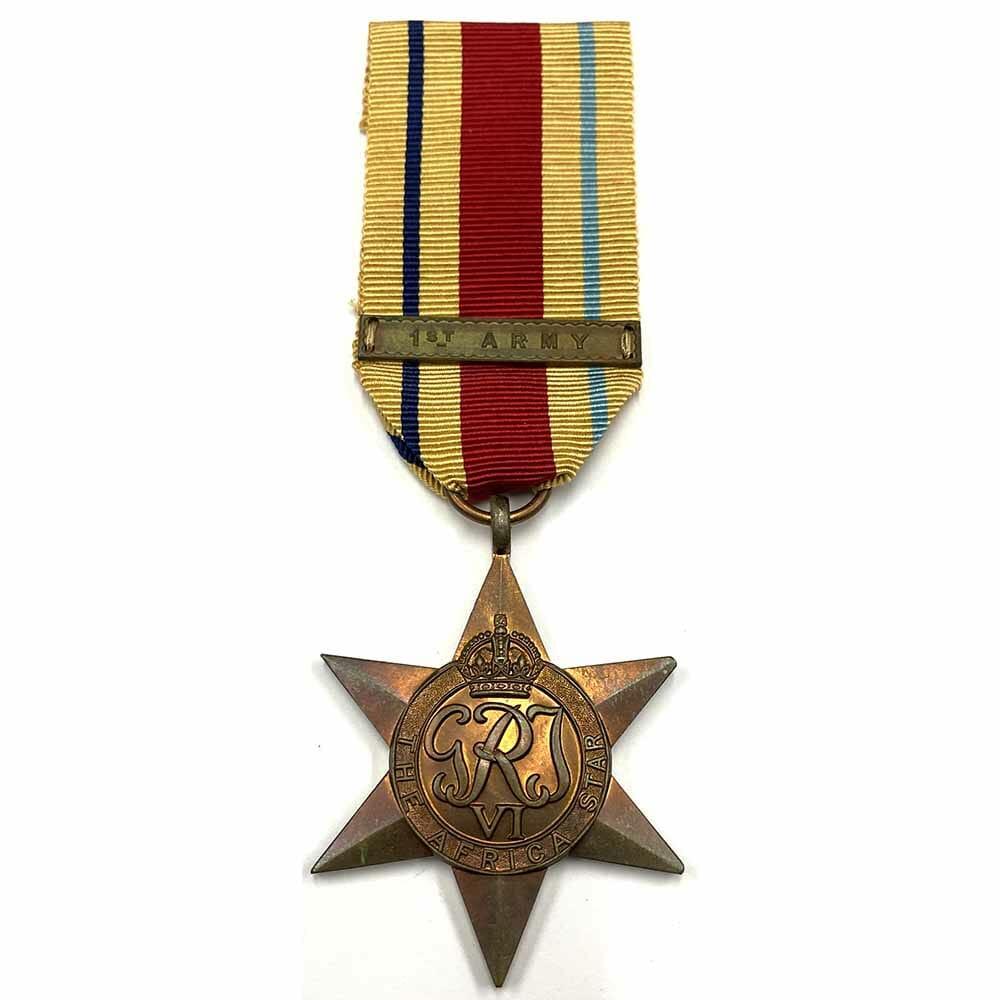 Africa Star bar 1st Army 1