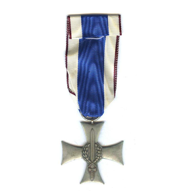 Cross of Valour  and Merit on Silesian Sash type 2 1927 1
