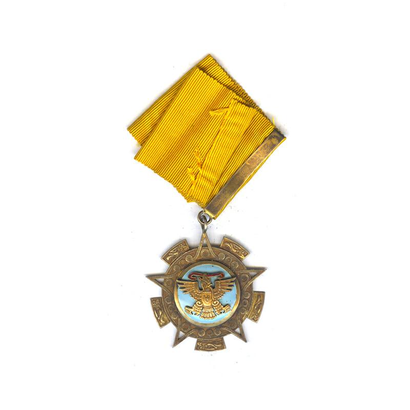 Order of the Aztec Eagle  Commander neck badge  silver gilt 2