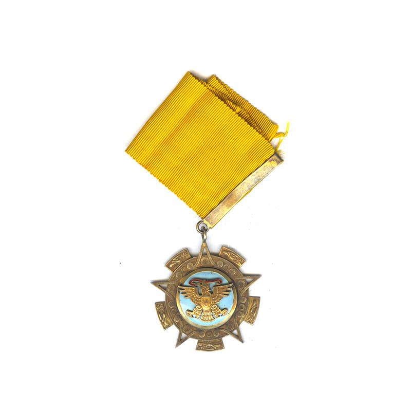 Order of the Aztec Eagle  Commander neck badge  silver gilt 1