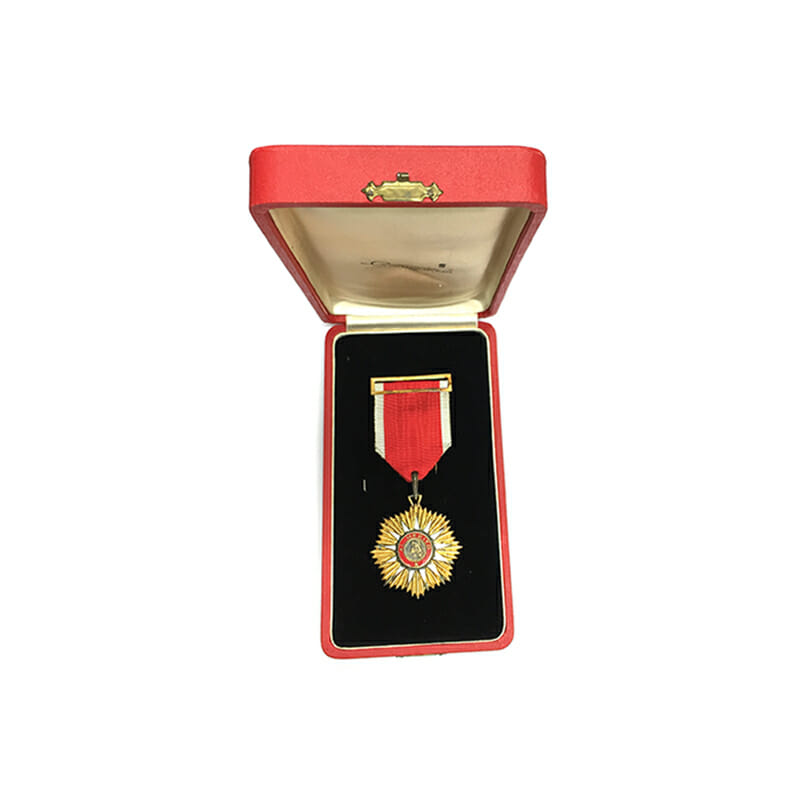 Order of Merit Knight badge mounted as worn with buckle and pin 5