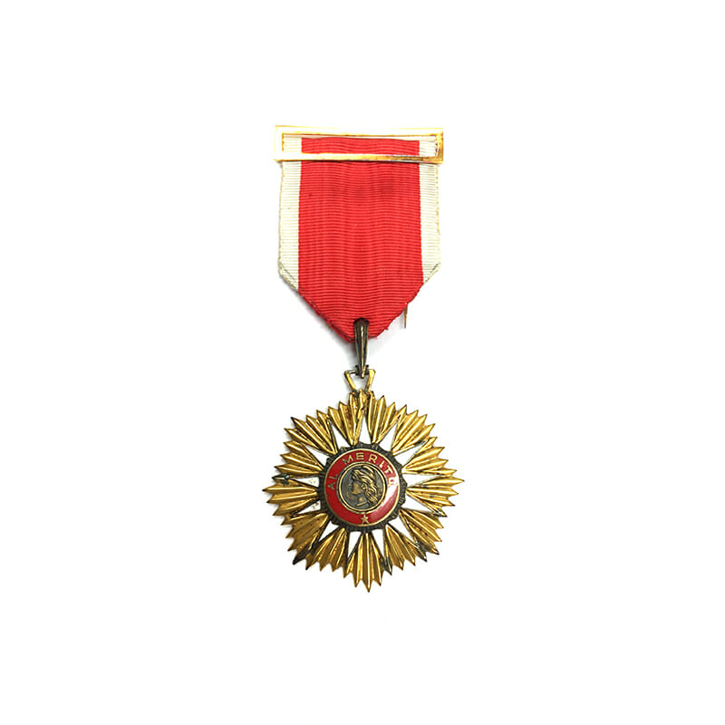 Order of Merit Knight badge mounted as worn with buckle and pin 1