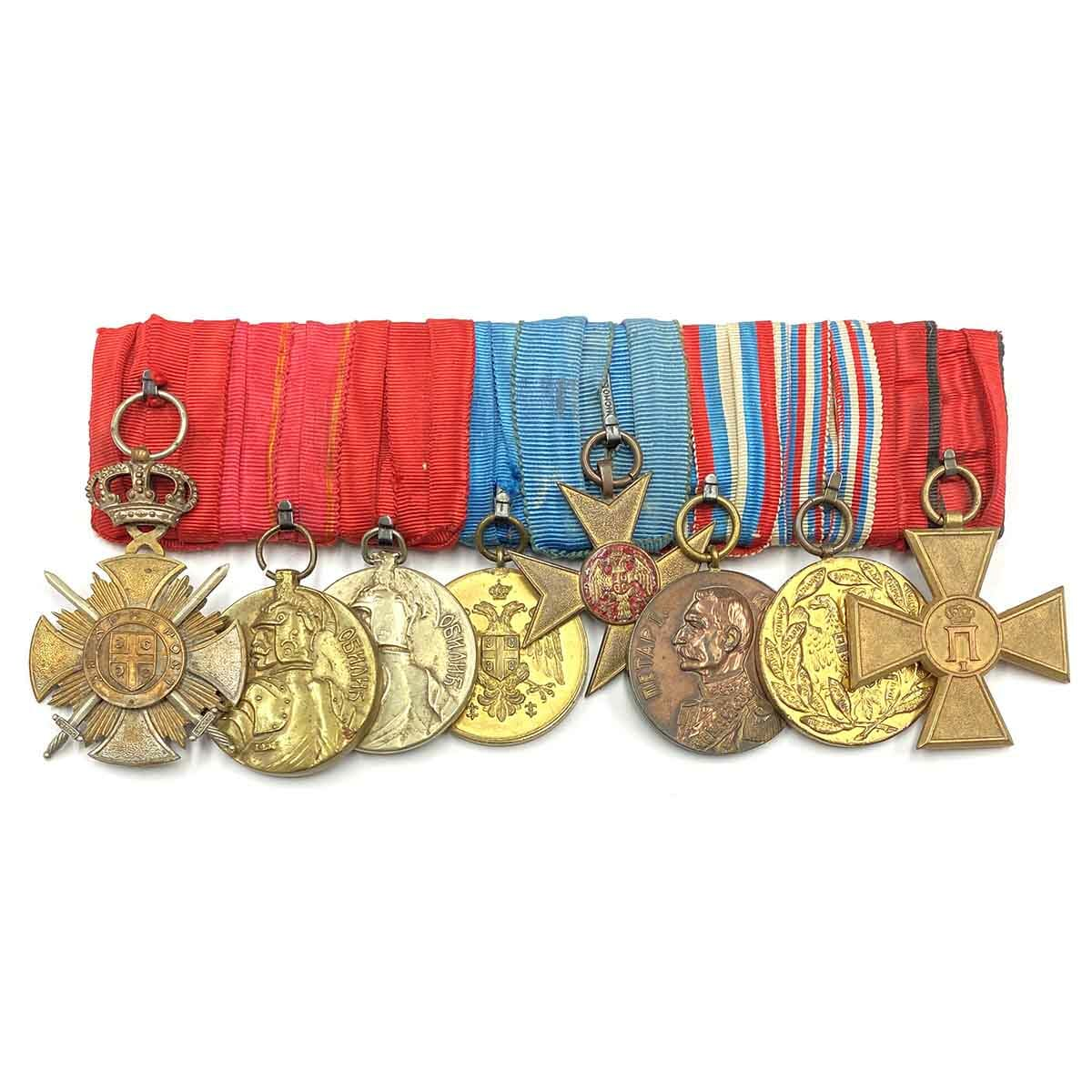 Group of 8 mounted Serbian style, Karageorge Soldiers cross 1