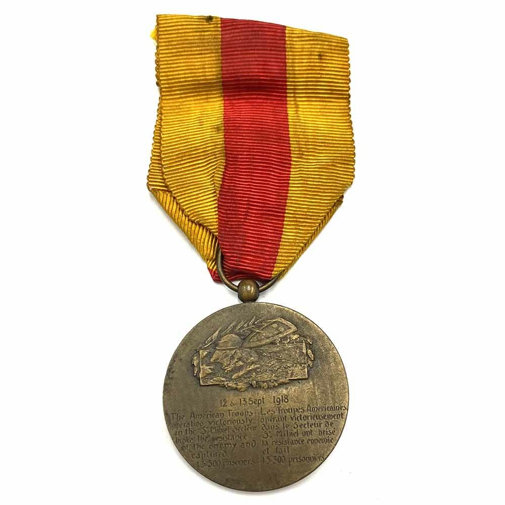 St. Mihiel medal 1918 bronze 2