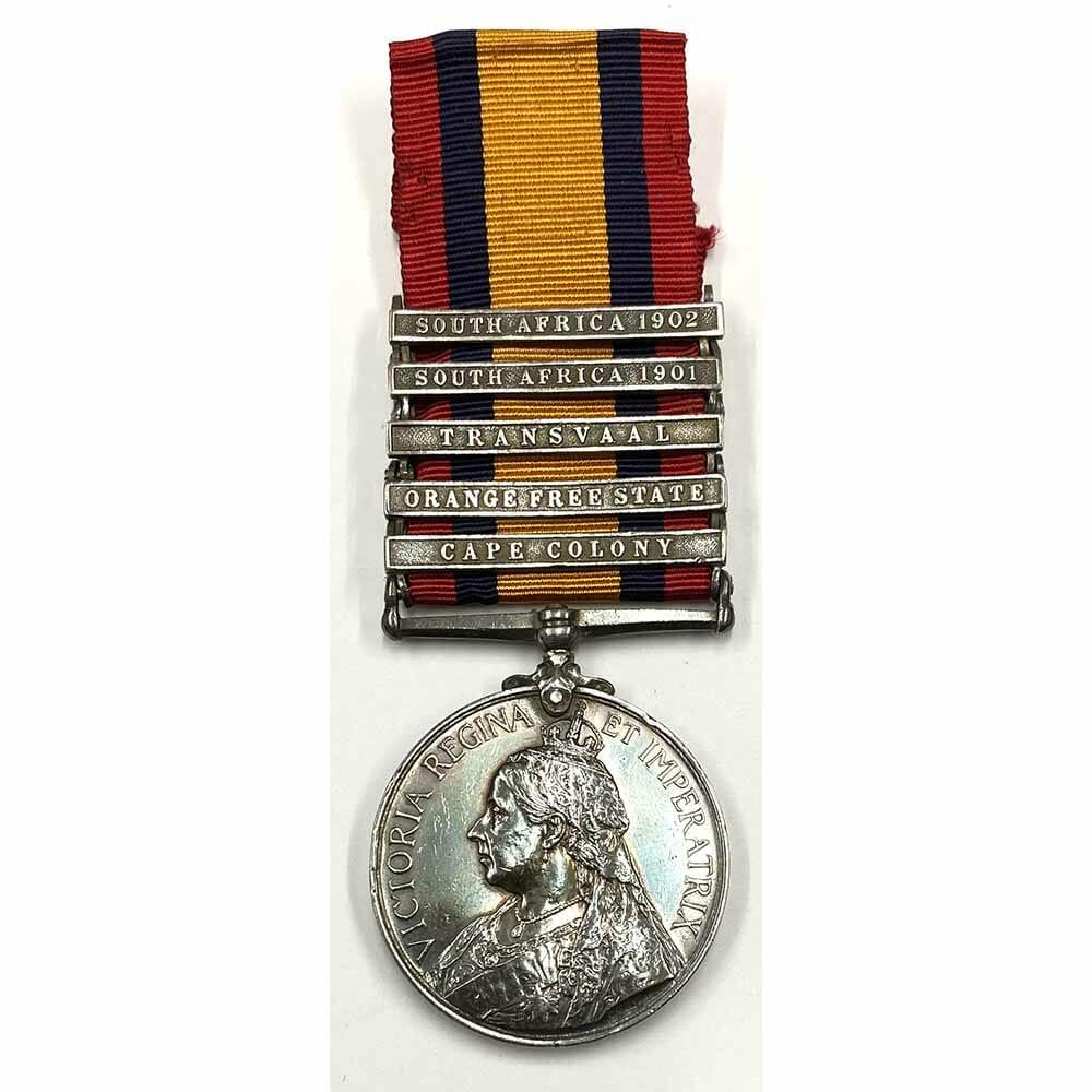 QSA 5 Bars 7th Dragoon Guards 1