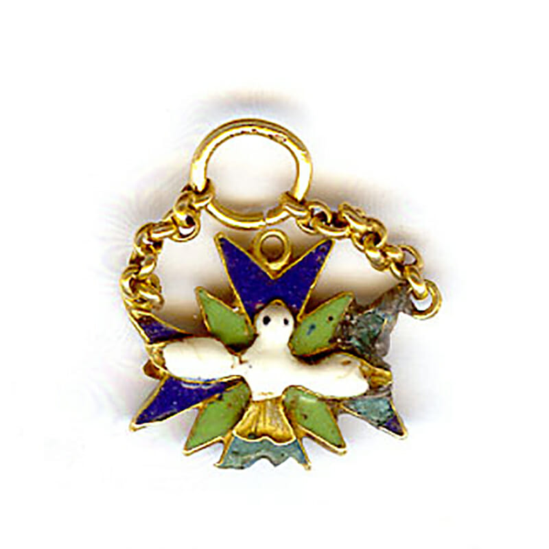 Order of the Holy Spirit in gold badge in gold 1