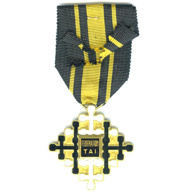 Laos Federation Tai  Cross of Civil  merit  Knight rare................................. 2