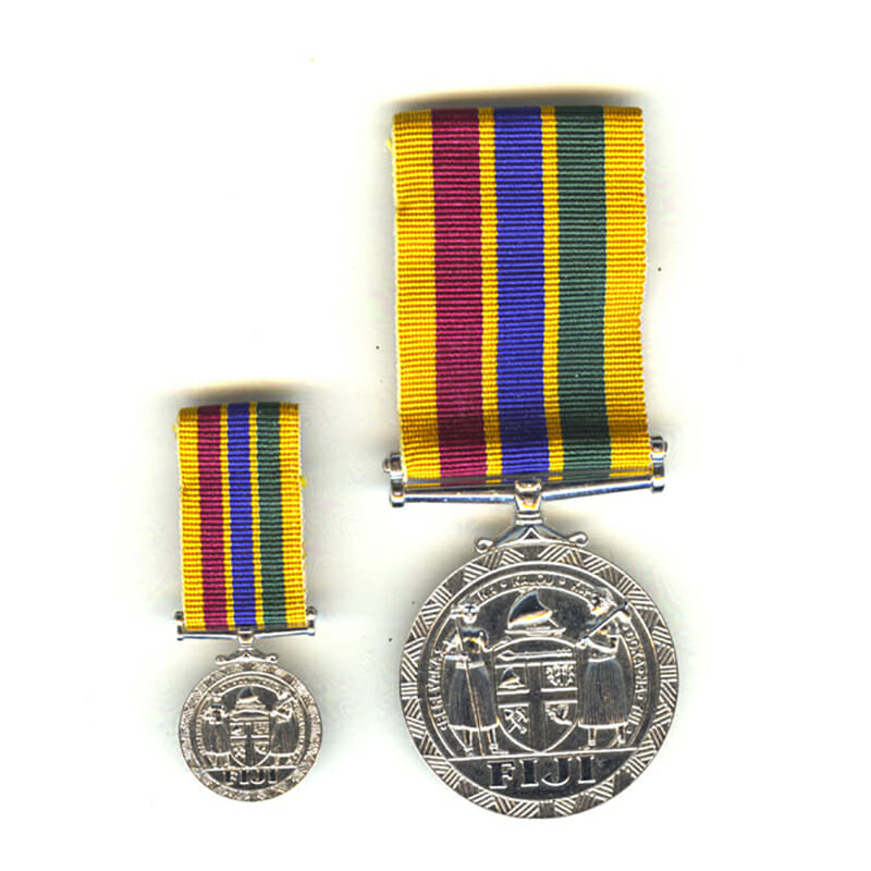 Meritorious Service Award Medal with miniature 1