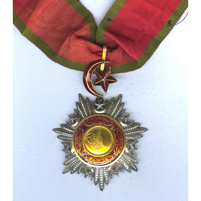 Order of the Medjidie Commander  neck badge Crimea Period with  all gold... 1