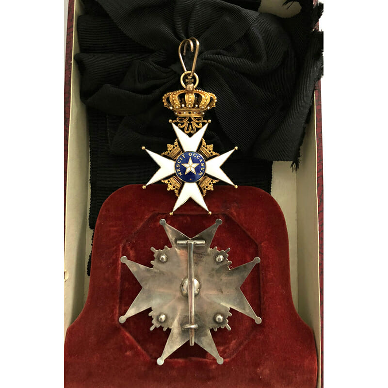 Order of the North Star Grand  Cross  sash badge and breast star 2