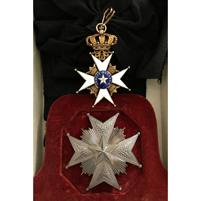 Order of the North Star Grand  Cross  sash badge and breast star 1
