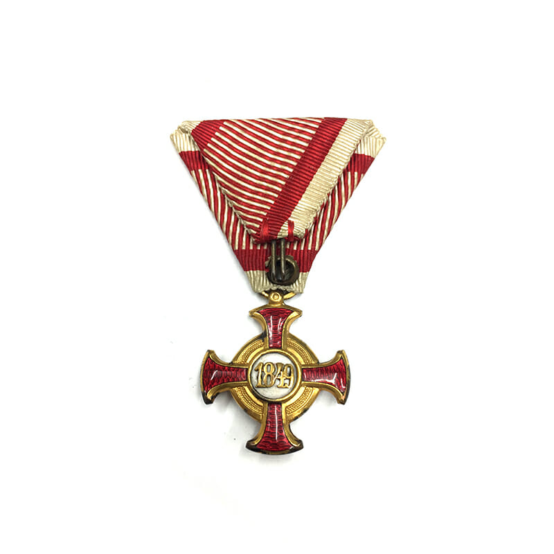 Golden Merit Cross 1849 small  type bronze gilt 2
