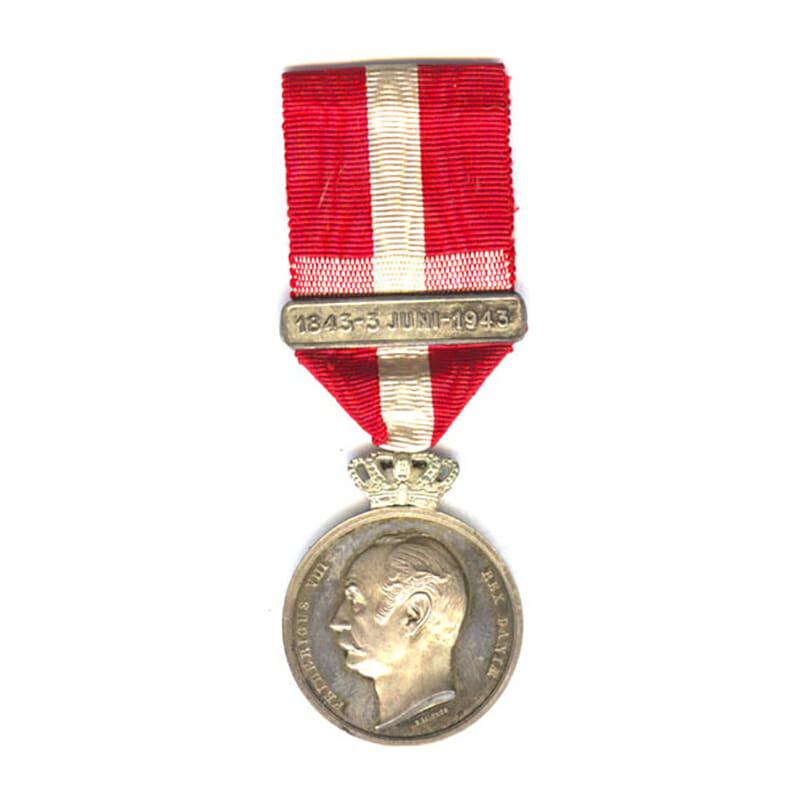 Frederick 8th Centenary medal 1843 -1943 1