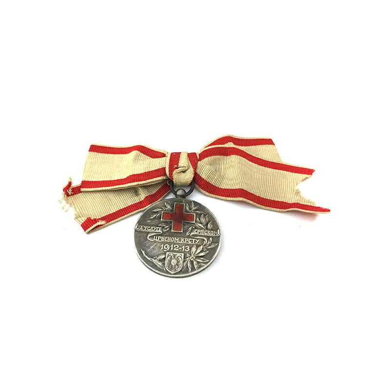Red Cross Medal Balkans 1912-13 silver 1