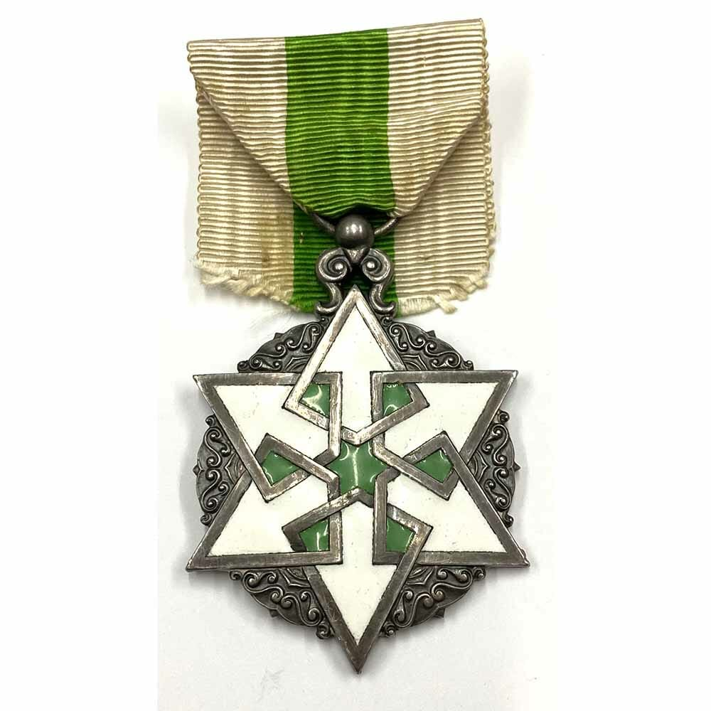 Order of Civil Merit knight silver and enamels, Bertrand 1