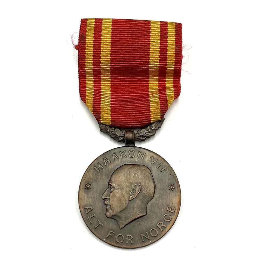 King Haakons War medal  WWII 1