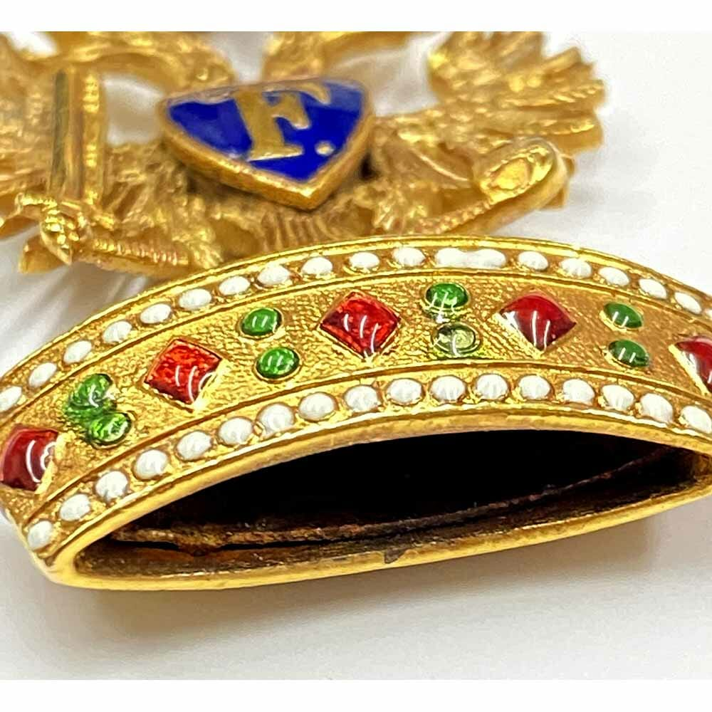Order of the Iron Crown 3rd class badge in gold 1860's 3