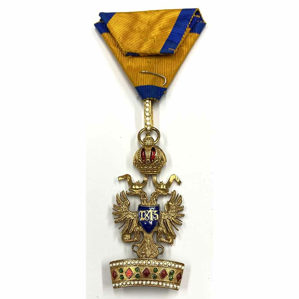 Order of the Iron Crown 3rd class badge in gold 1860's 2