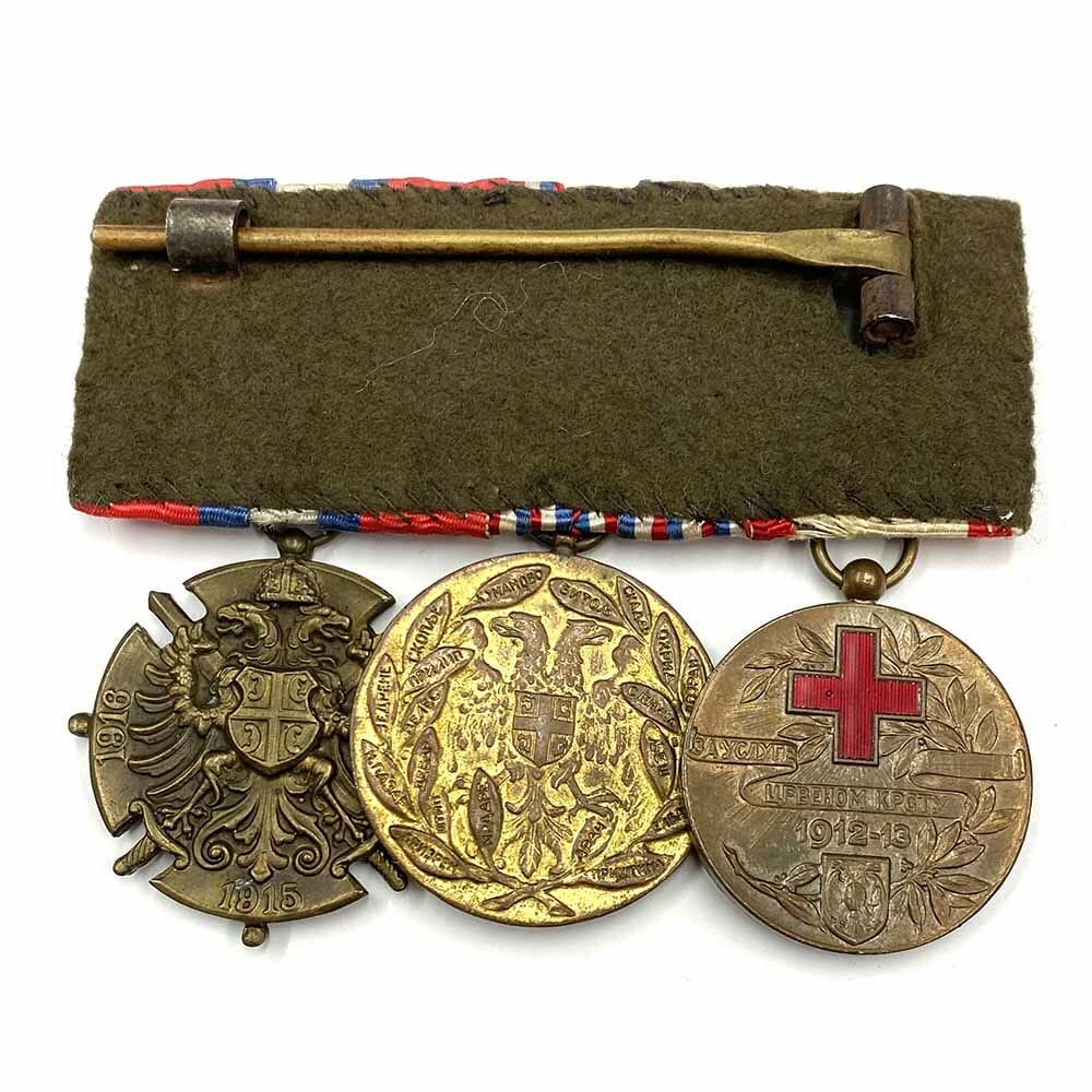 Red Cross Merit Medal Balkans 1912-13 Group of 3 2