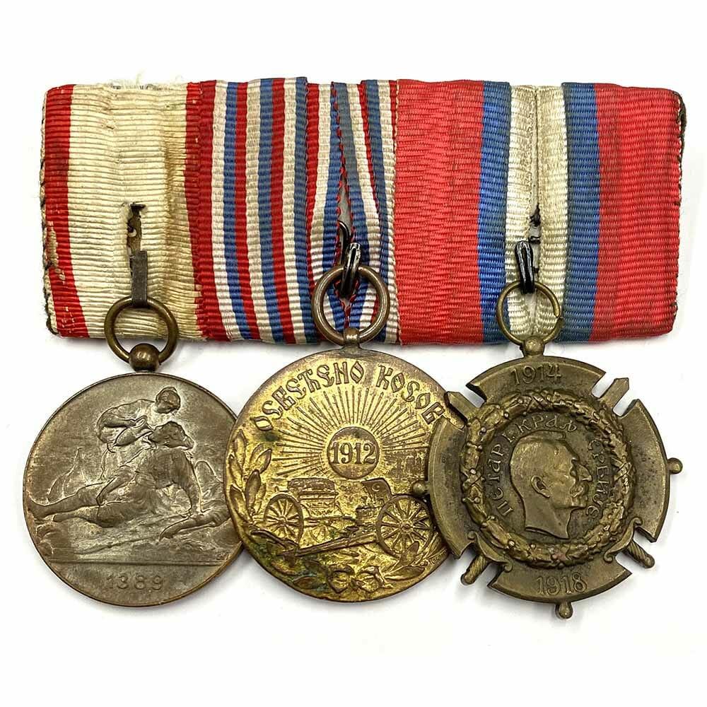 Red Cross Merit Medal Balkans 1912-13 Group of 3 1