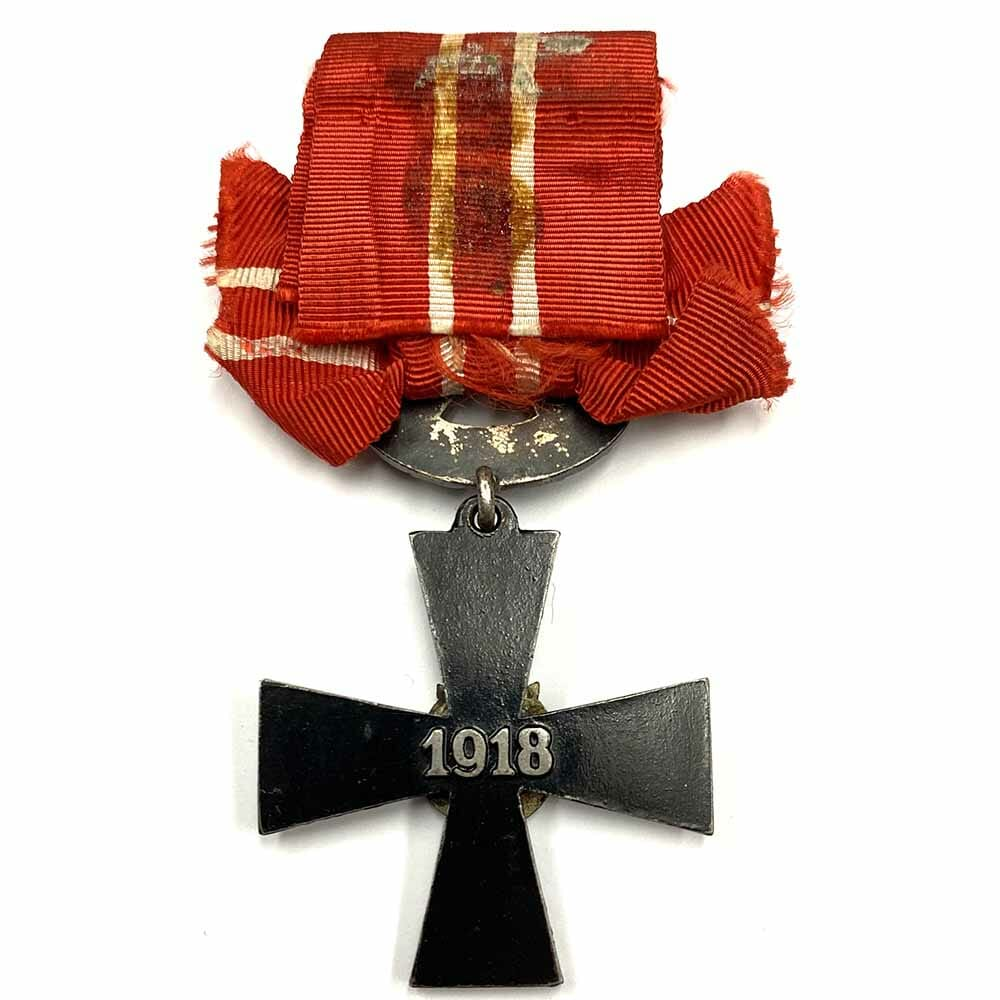 Order of Liberty Cross 4th class 1918 with swords 2