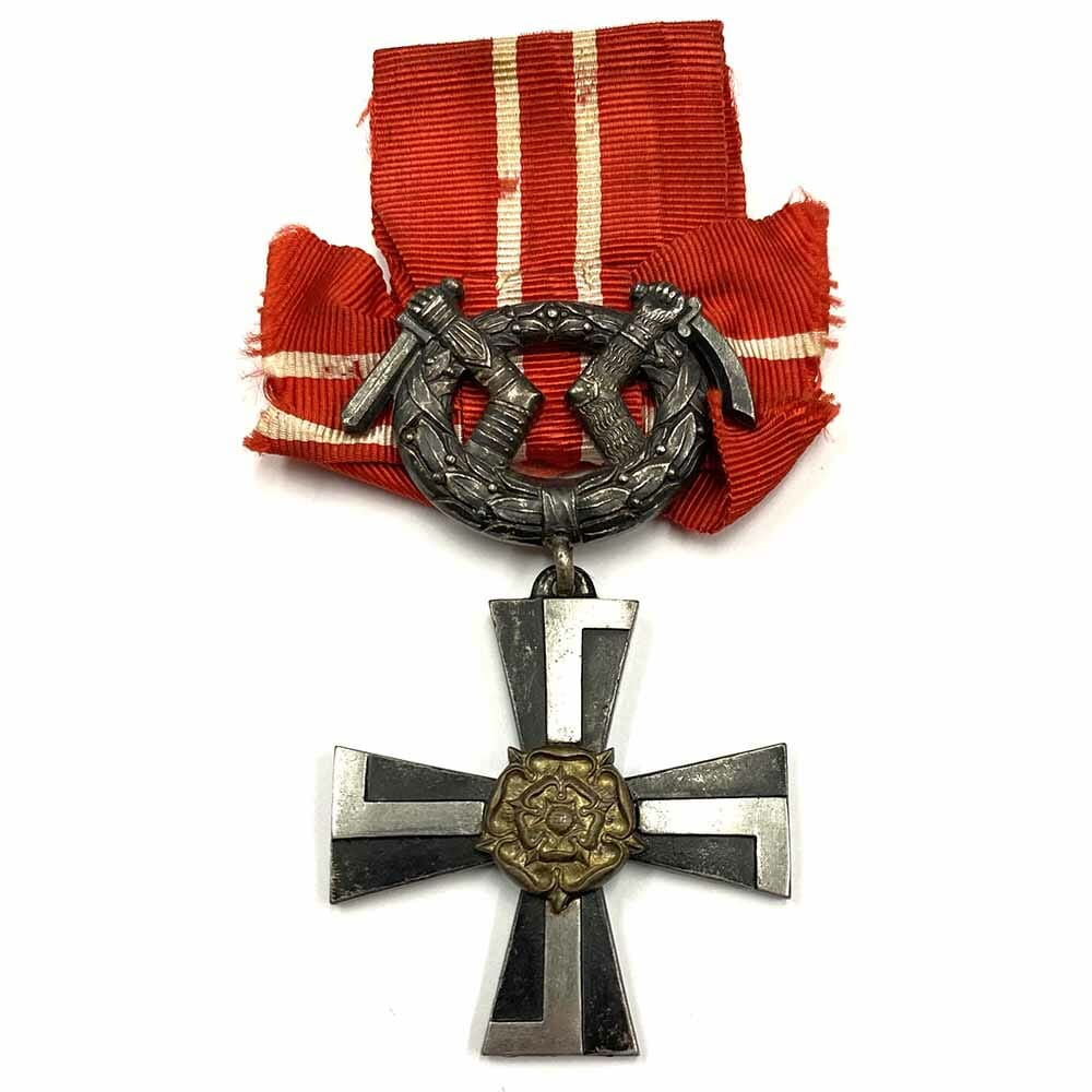 Order of Liberty Cross 4th class 1918 with swords 1