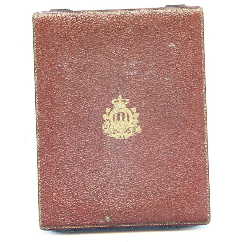Order of San Marino 1st type Civil Commander silver gilt 2