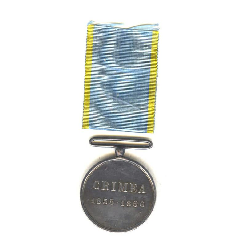 Crimea Medal 1855-1856 with engravers name G. Ferraris below bust 2
