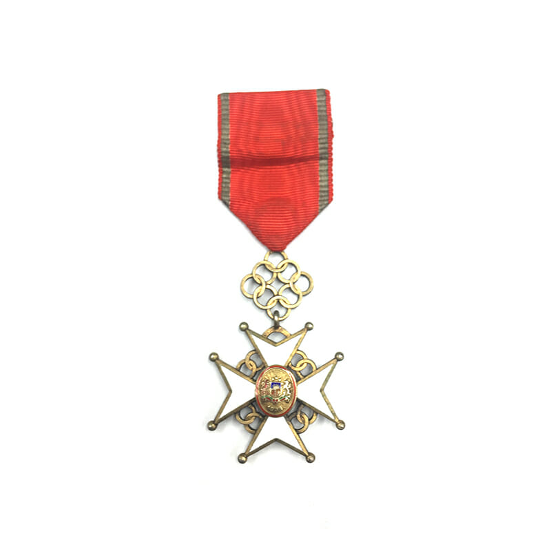 Order of the Cross of Recognition Officer  silver gilt in fitted embossed... 1