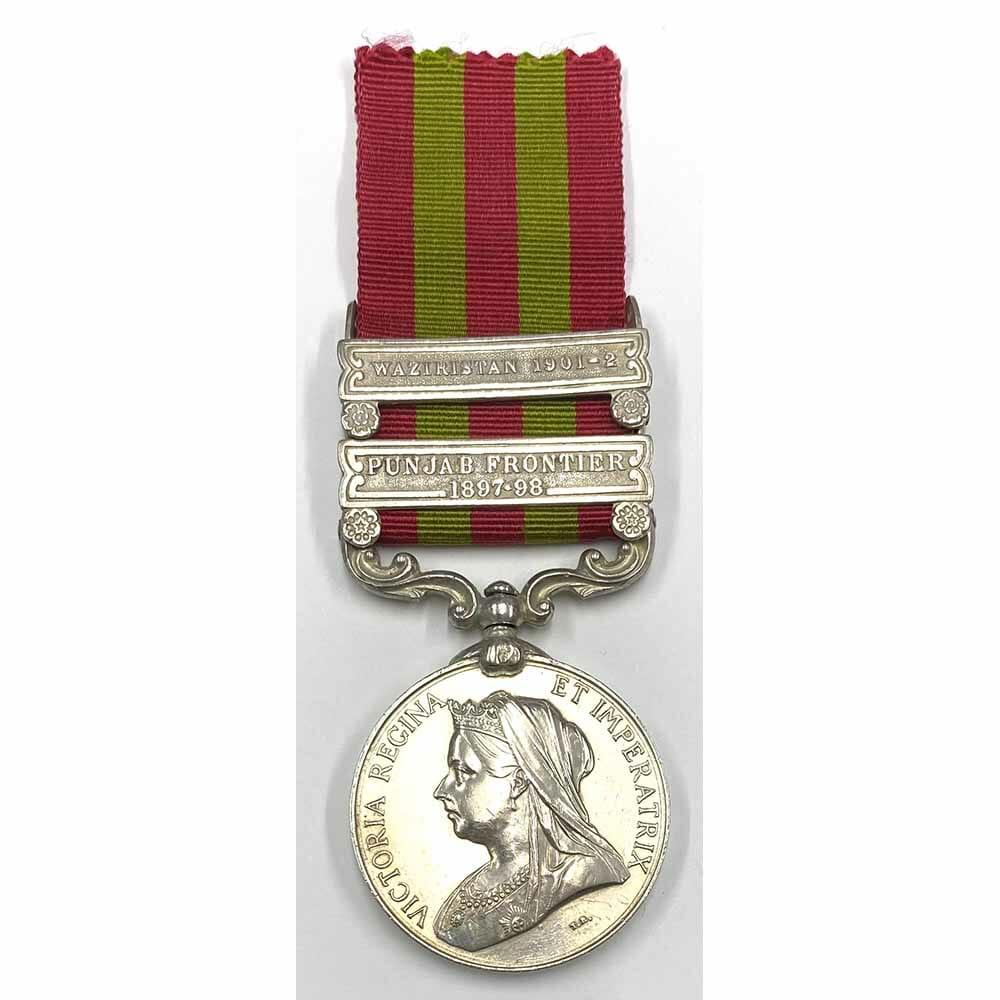 IGS 1895 2 Bars 1st Punjab Infantry 1