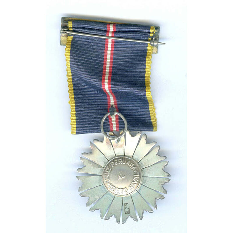 Naval Merit  Order Knight breast badge with ribbon buckle 2