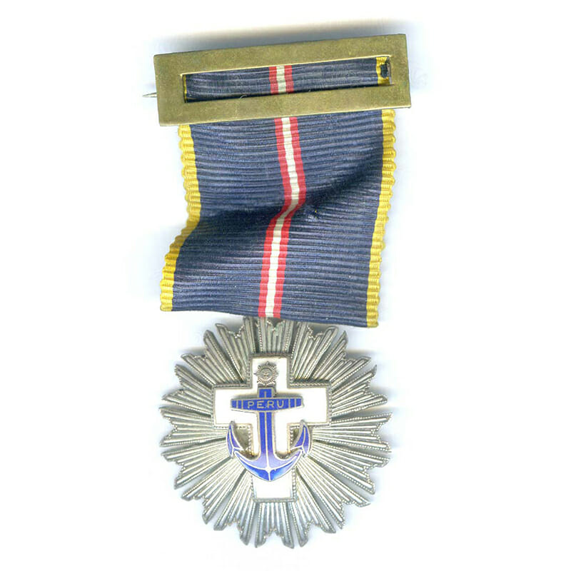 Naval Merit  Order Knight breast badge with ribbon buckle 1